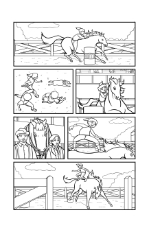 Inked page from Horse Power G Issue 2