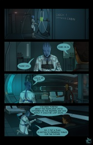 Comic page of a scene from Mass Effect 3