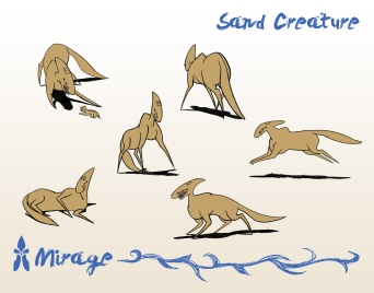 Mirage: Creature that pulls the scouting vehicle