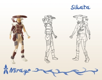 Mirage: the main character Sikata.