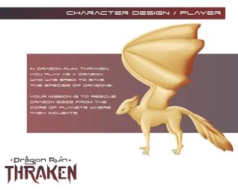 Thraken: the playable dragon character