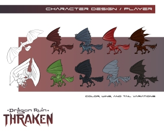 Thraken: Dragon design options