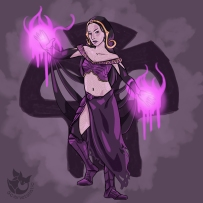 Liliana's necromantic magic.
