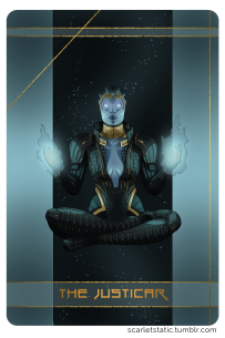 Mass Effect: Samara as the Justicar, based on the Emperor.
