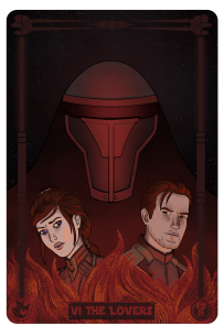 Star Wars: Revan, Bastila, and Carth as the Lovers.