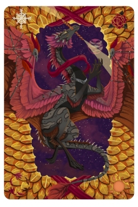 World tarot card for my skydancer on Flight Rising, Aradia.