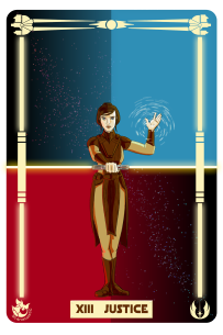 Star Wars: Bastila as Justice.