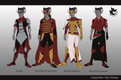Dragon Age: Outfit redesigns for Inquisitor Nyx Adaar.