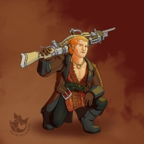 Varric Tethras and Bianca