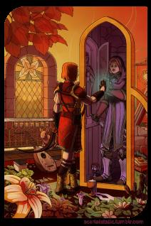Dragon Age: Leliana as Temperance.