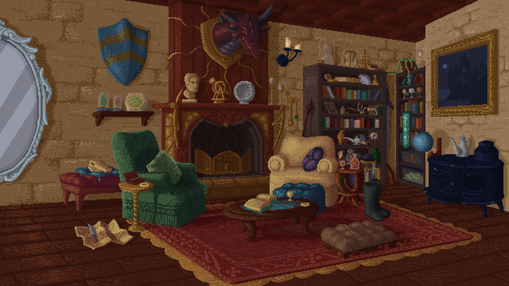Golem Creation Kit living room background.