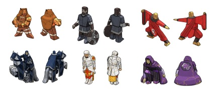 IronSong Forge character pieces concepts.