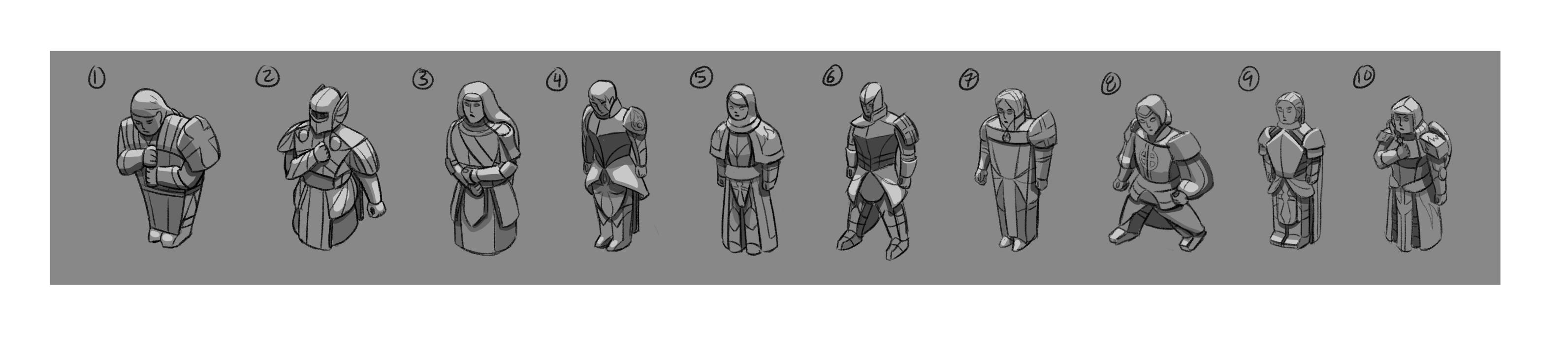 ISF Paladin Sketches