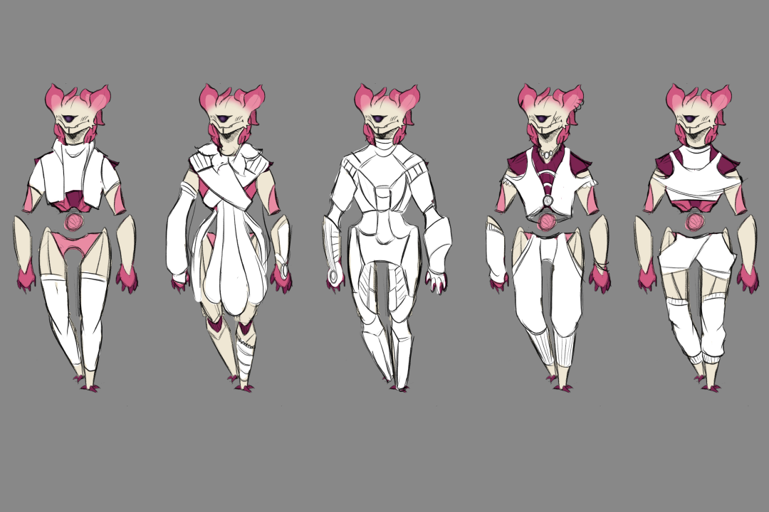 Pixel Outfit Sketches