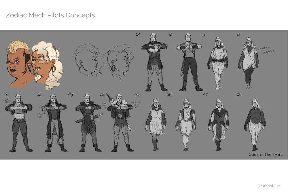 ZMC- Gemini Body Sketches 01